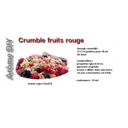 arôme crumble fruits rouges